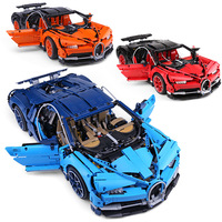 20086 Bugatti Chiron Racing Car Sets kits Compatible with 42083 building Blocks Technic Series Model Brick Toys For