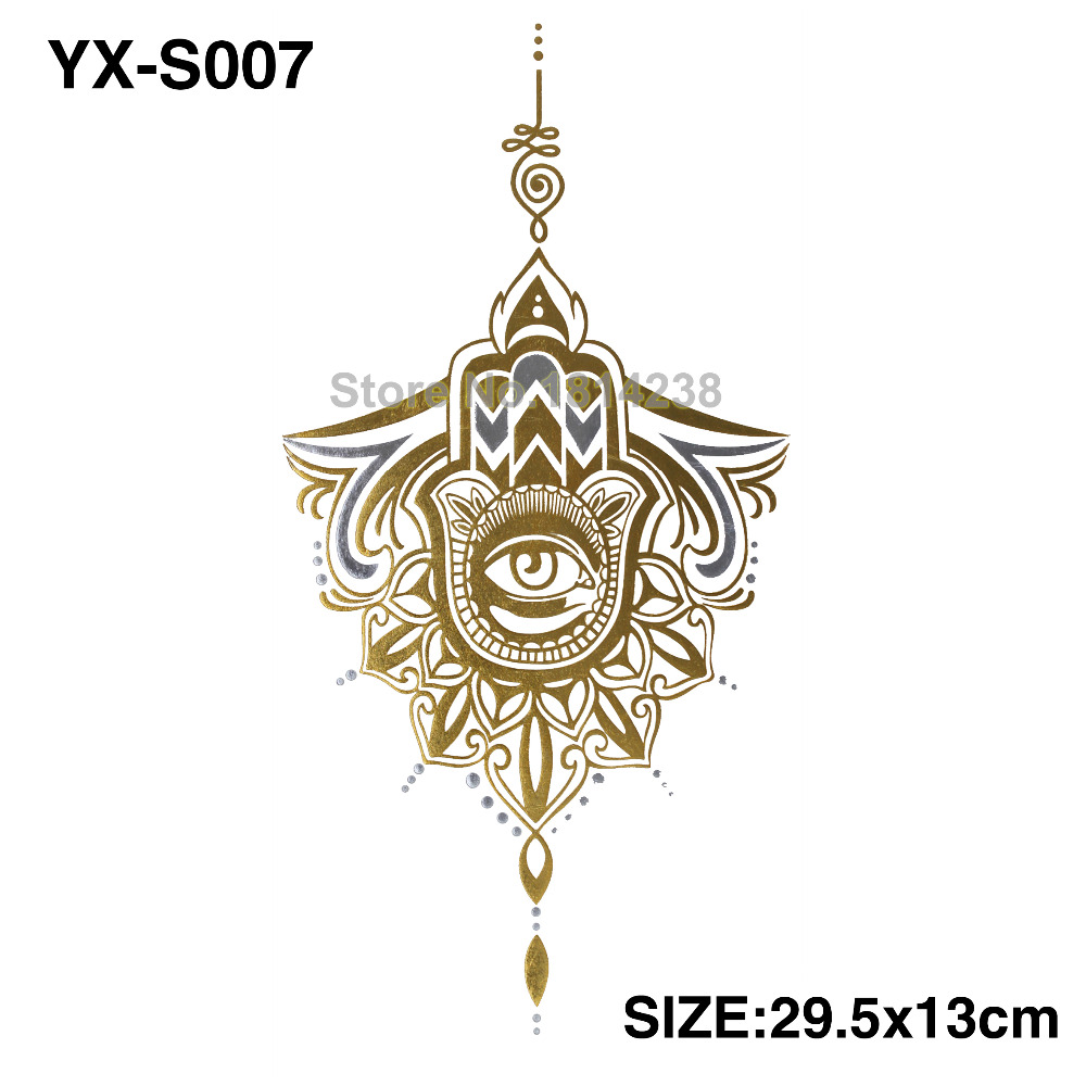 Chest Piece Tattoo Prices: Golden India Spend Eyes Sexy Chest Tattoo BIG Size 295MM X