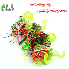 2pcs 40g mixed big metal lead head jigs fishing lures soft fishing baits buzzbaits octopus squid hooks sea pesca fishing tackles