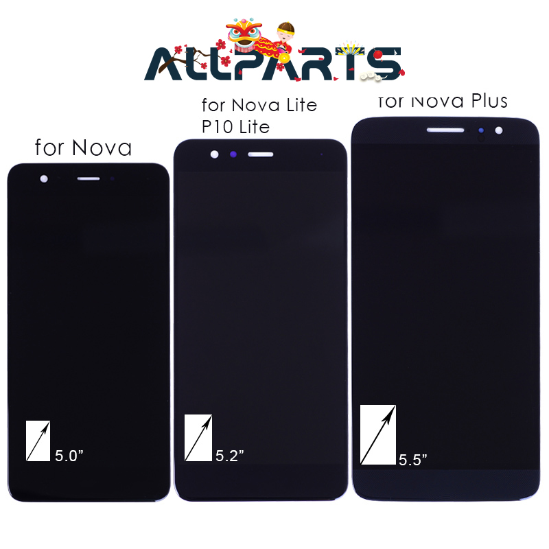 No Dead Pixel Real FHD LCD For HUAWEI Nova Display Nova Lite P10 Lite Display Nova Plus LCD Touch Screen Digitizer Replacement