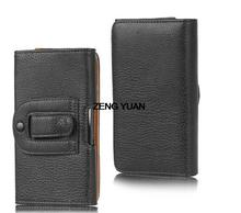 Lichee/Smooth Pattern Leather Pouch Belt Clip Bag for Huawei U9508 Phone Cases Cell Phone Accessory