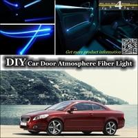 interior Ambient Light Tuning Atmosphere Fiber Optic Band Lights For Volvo C70 Inside Door Panel illumination Not EL light Refit