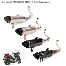 2017 2018 Silp on for Yamaha XMAX250/300 Motorcycle Full Connecting Pipe With Exhaust Muffler Tubes DB Killer Silencer System все цены