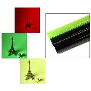 Image 2 - Профессиональная цветная гелевая фильтровальная бумага Meking 40*50 см для студийной вспышки, Красного точечного светильника