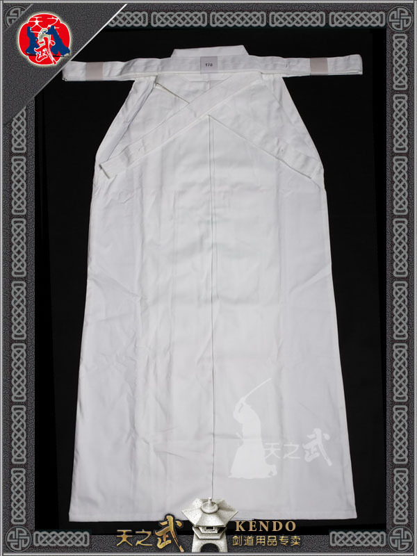 Augstas kvalitātes Kendo Aikido Iaido balta Hakama cīņas mākslas vienota sporta apģērba Dobok bezmaksas piegāde