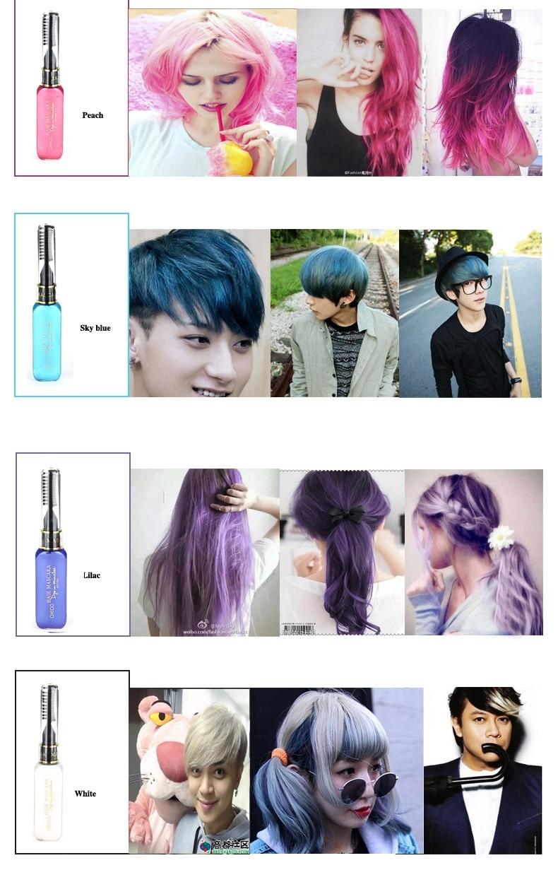 3-dijelna boja za kosu i TOUCH-UP maskara-za-kosu 12 boja netoksična - Njega kose i styling - Foto 4