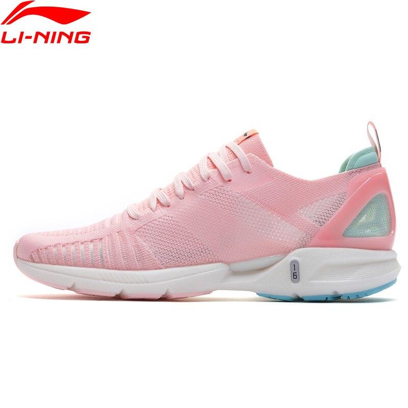 Li Ning Women SUPER LIGHT XVI Cushion Running Shoes LIGHT FOAM Breathable Mono Yarn LiNing Sport