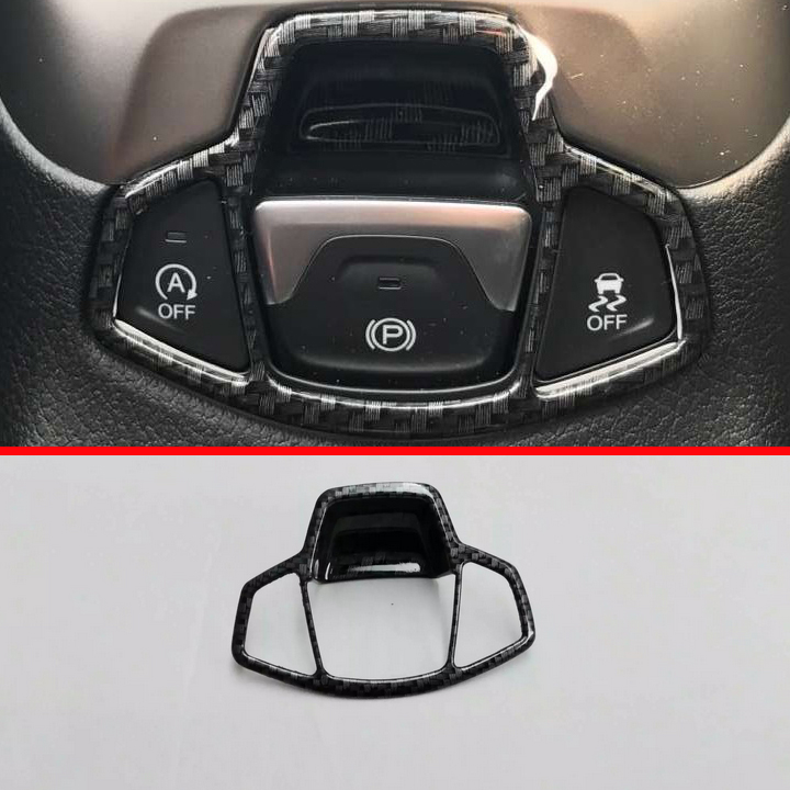 Carbon fiber Style Handbreak Park Brake Around Cover Trim For <font><b>Jeep</b></font> <font><b>Compass</b></font> 2017 <font><b>2018</b></font> image