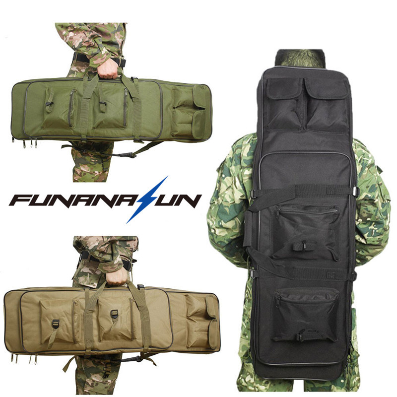 120cm Tactical CS Game Gun Carry Case with Shoulder Strap Military Double Rifle Storage Backpack Shockproof Airsoft Bag 49 airsoft adults cs field game skeleton warrior skull paintball mask