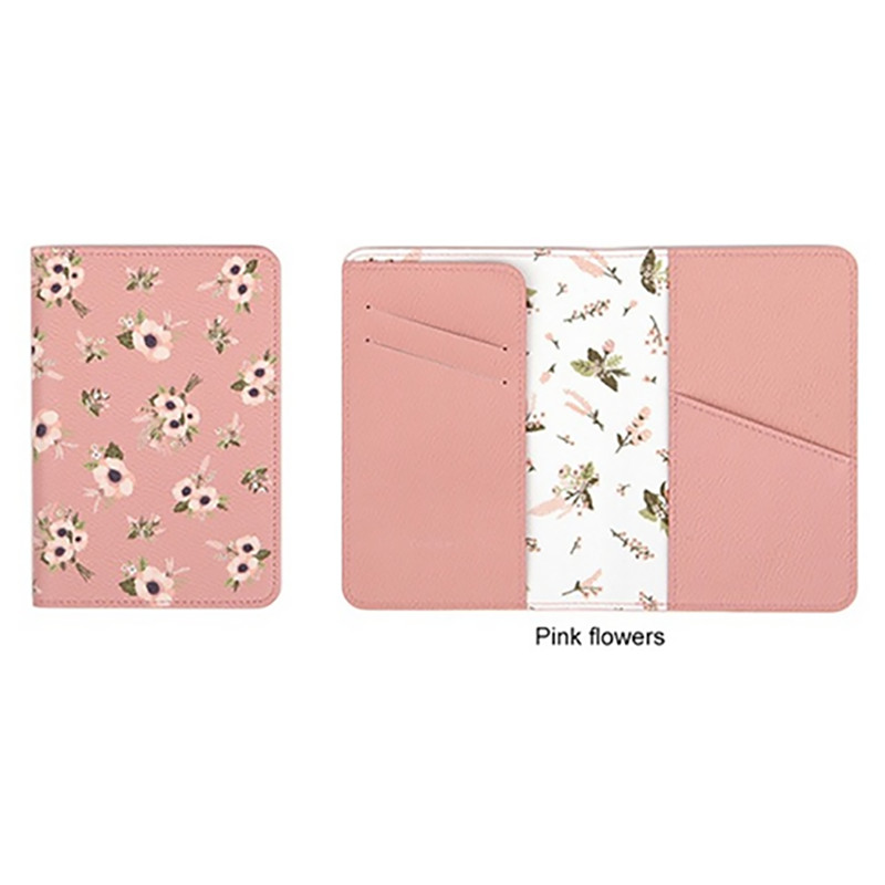 Animal / Plant Printing Short Bags Cute Female Printing Short Bag Wallet Women Money Flowers Passport Cover Travel Bags
