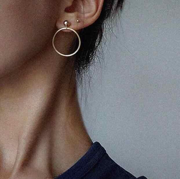 Ea936 Europa personalidad salvaje círculo geométrico círculo pendientes damas moda pendientes Vintage moda mujer joyería Accesorios