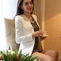Плюс Размер 2016 Женская Мода Блейзер Костюм Женский Белый Пиджаки И Куртки Одна Кнопка Кардиганы Blaser Feminino Весте XL T5208
