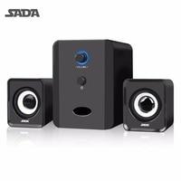 SADA Mini Portable Combination Speaker Stereo Desktop PC Laptop Computer Speaker 3 5mm Audio Jack USB