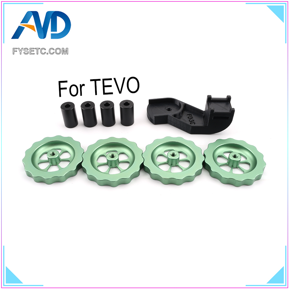 Aluminum Solid Spacer And Bed Mount Strain Relief Bracket + Knob Leveler M5 Thread Twist Leveling For TEVO Tornado UltimateAluminum Solid Spacer And Bed Mount Strain Relief Bracket + Knob Leveler M5 Thread Twist Leveling For TEVO Tornado Ultimate