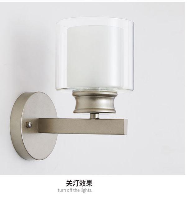 HTB1ipwEDmBYBeNjy0Feq6znmFXao - Bedroom bedside wall lamp modern minimalist living room study LED TV wall lamp glass lampshade aisle lamp atmosphere