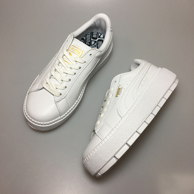 2494a6276ebdfe PUMA FENTY Suede Cleated Creeper Women s First Generation Rihanna Classic  Basket Suede Tone Simple Badminton Shoes 36-39