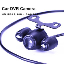2.5mm Jack Port 4 Pin Night Vision Car DVR Rear View Camera Parking Camera Waterproof  with 2 Led Light 6 Meter cable