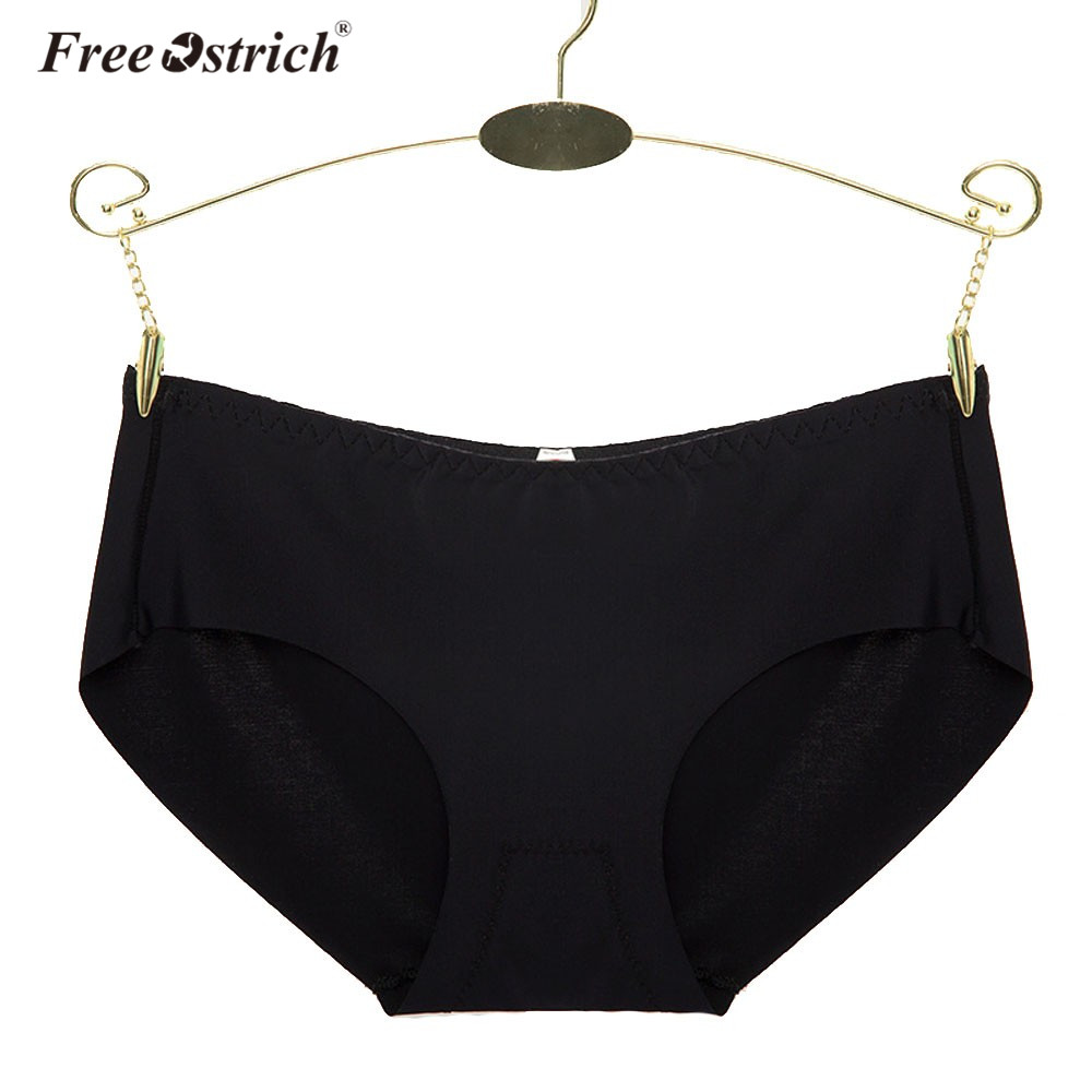 Free Ostrich 2018 Summer Sexy Women Invisible Underwear Briefs Solid Color Ice Seamless   Panties   40