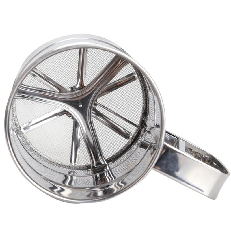Stainless Steel Mesh Flour Sifter Mechanical Baking Icing Sugar Shaker Sieve Kitchen Gadgets Accessaries Baking Pastry Tools