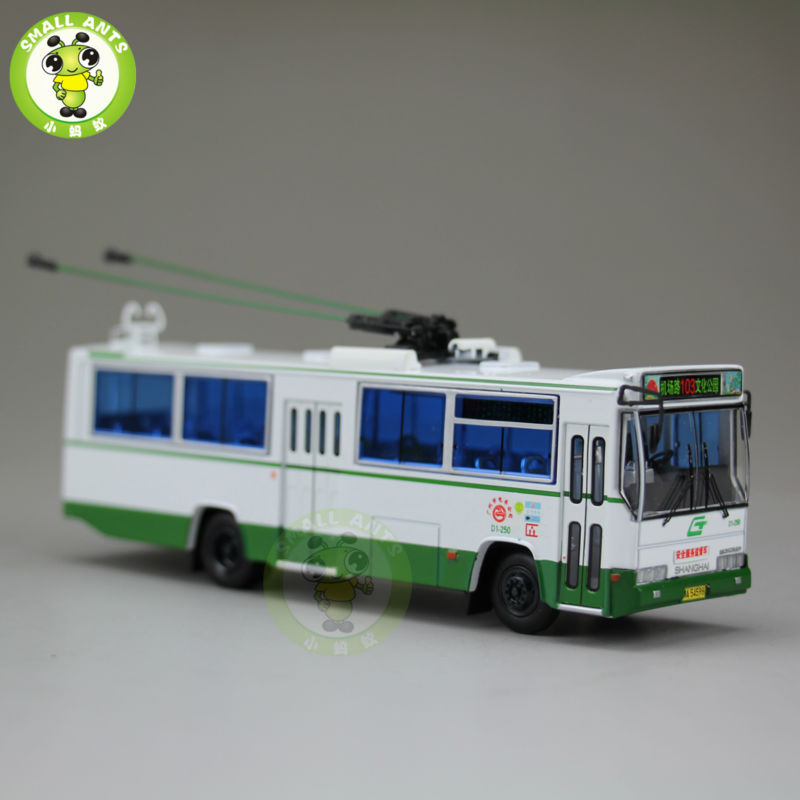 1:76 Scale ShangHai Brand Trolleybus China GuangZhou Bus NO.103 Diecast Bus Car Model 1 43 ankai bus sightseeing tour of london bigbus big bus diecast model bus open top