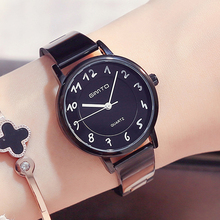GIMTO Moda de Las Mujeres Vestido de Relojes de Pulsera de Acero Inoxidable de Cuarzo Reloj de Señoras Amantes Femeninos Reloj reloj Del Relogio Montre