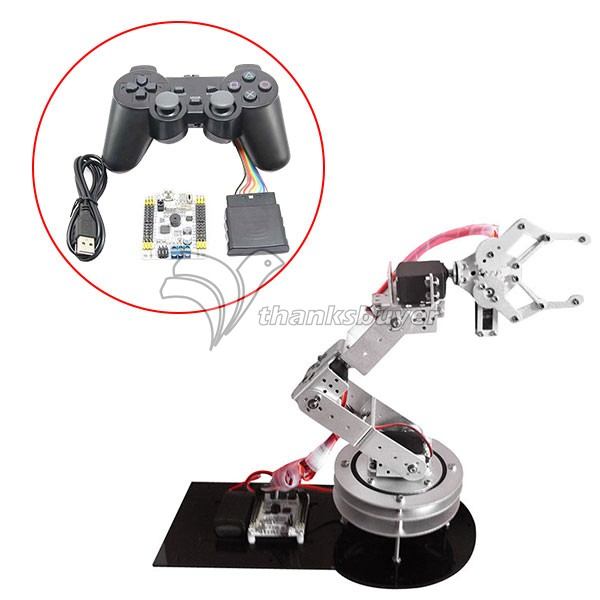 5 DOF Metal Robot Robotic Clamp Gripper Arm Kit w//MG-996R Servo For Arduino