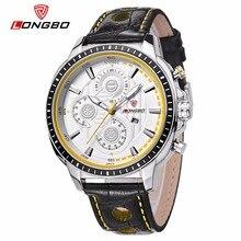 LONGBO Lujo Hombres de Cuero Genuino Reloj de Cuarzo de Los Deportes Relojes Para Hombres Hombres Ocio Simple Reloj Reloj Relogio masculino 80198