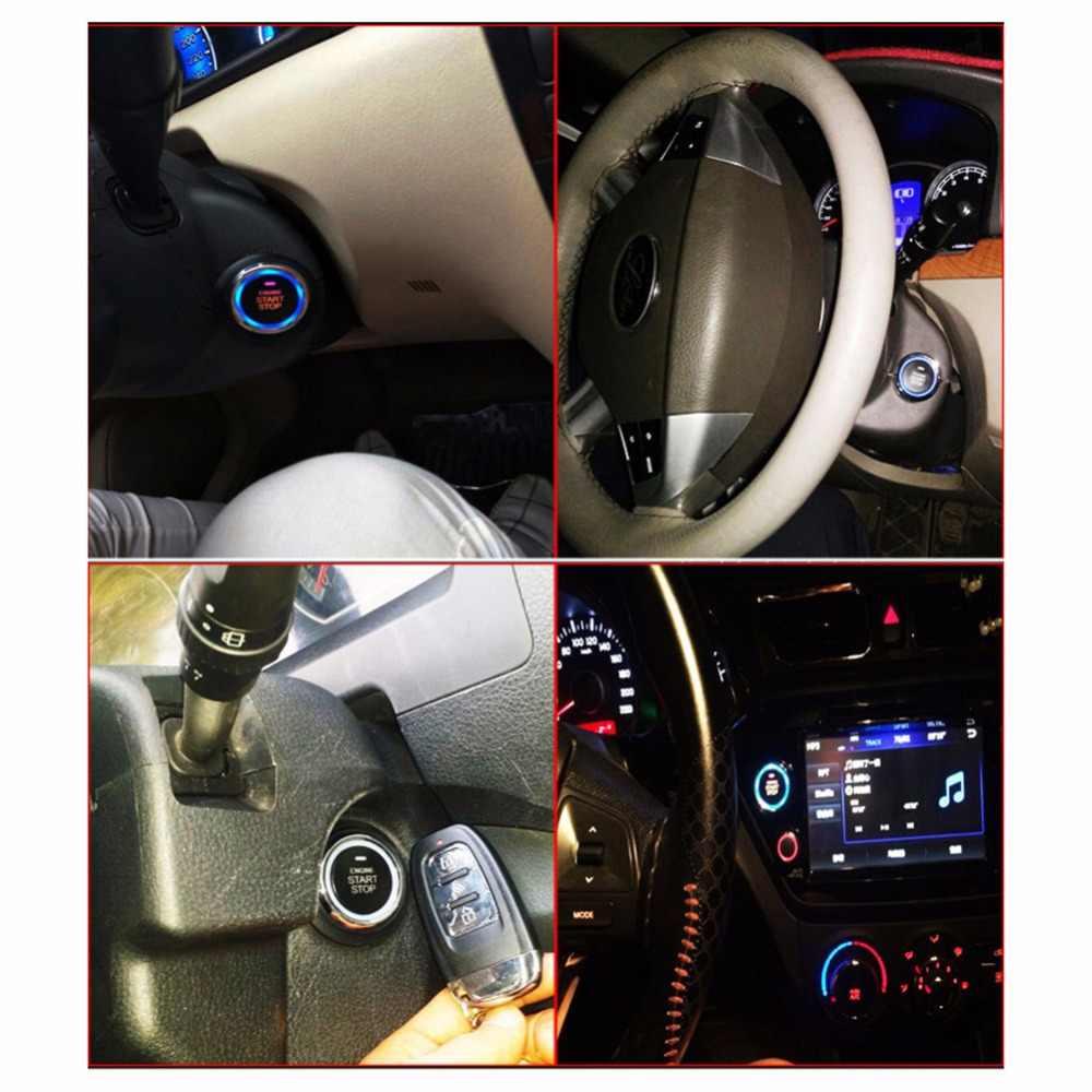 Fit 13 acessórios do carro Keyless Entry PKE Sistema de Travamento Central Conforto Telefone APP Sistema de Alarme de Carro Início Remoto Do Motor Do Carro push