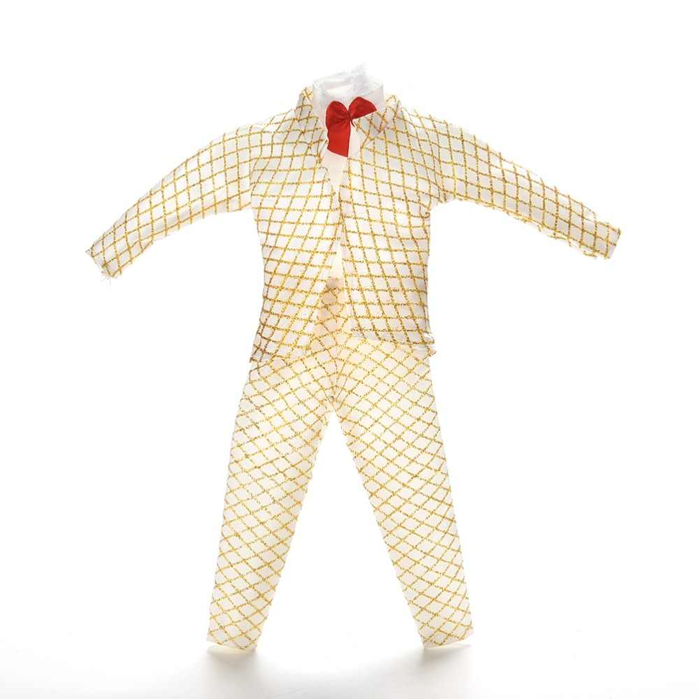 Male Doll Golden Suit Outfit Clothes For Prince Ken Handmade Clothing For  Ken 1 Set