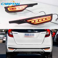 2PCS LED Rear Fog Lamp For Honda Fit Jazz 2018 2019 Car LED Bumper Light Brake Light Dynamic Turn Signal Indicator Reflector