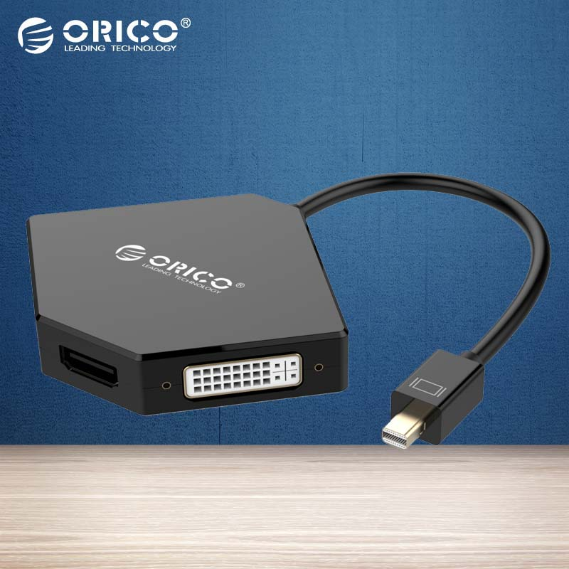 ORICO DMP-HDV3 MINI DP To HDMI DVI VGA Adapter To Thunderbolt Cable DisplayPort Display Port for Apple MacBook Air Pro