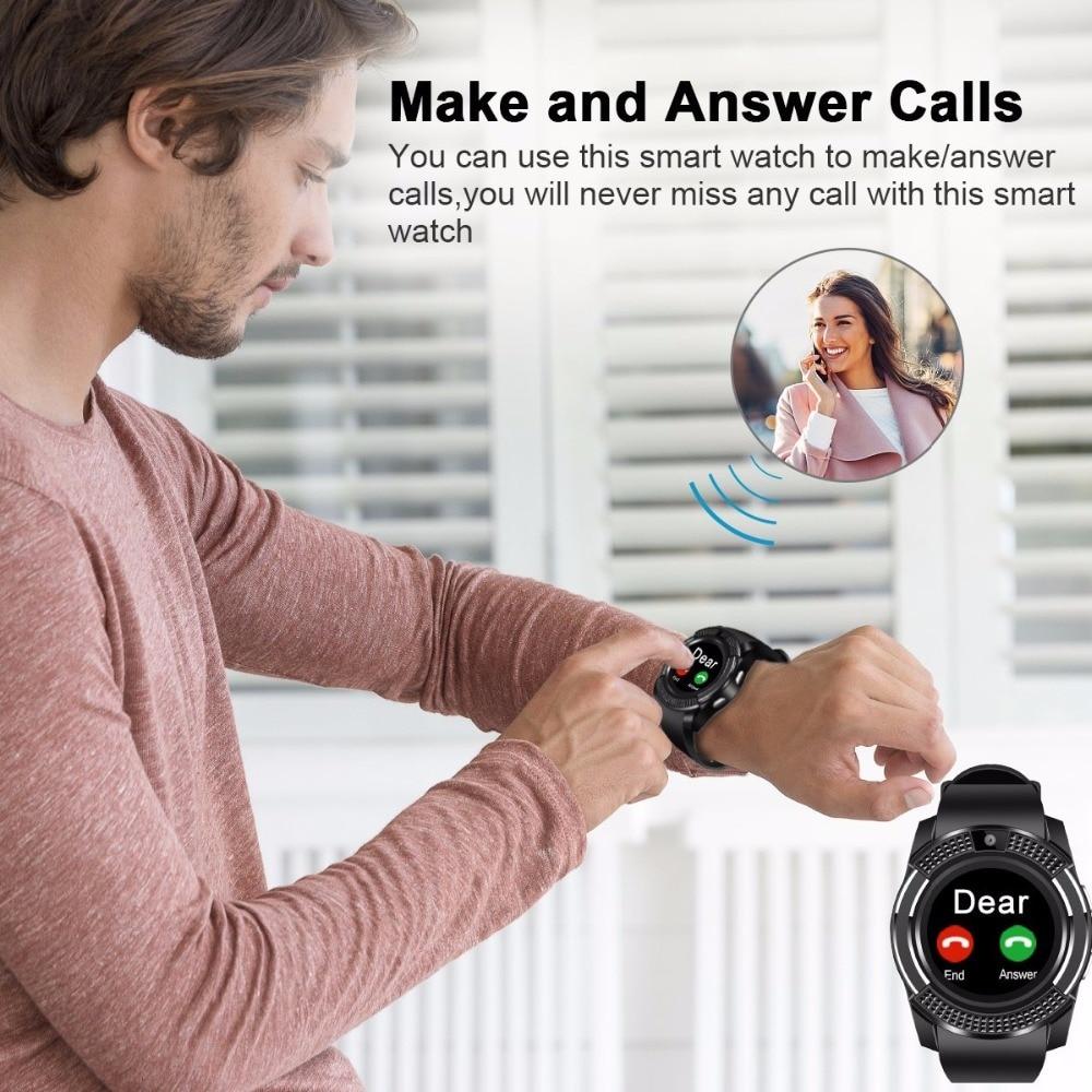 V8 SmartWatch Bluetooth Smartwatch Touch Screen Wrist Watch with Camera/SIM Card Slot, Waterproof Smart Watch DZ09 X6 VS M2 A1 16