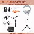Fotopal 48 см 240 светодиодная фотостудия для фотостудии  освещение для телефона  светодиодная студийная кольцевая лампа со световым штативом и з...
