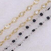 3 meter pha lê mân côi chuỗi vòng cổ Dây Bọc beaded Mân Côi Mặt hạt mix color beads màu sắc khác nhau kim loại 1910