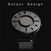 Eutour Men Luxury Top Brand Concise Innovate WristWatches Fashion Casual Sport Magnetic Stainless Steel Strap Swiss
