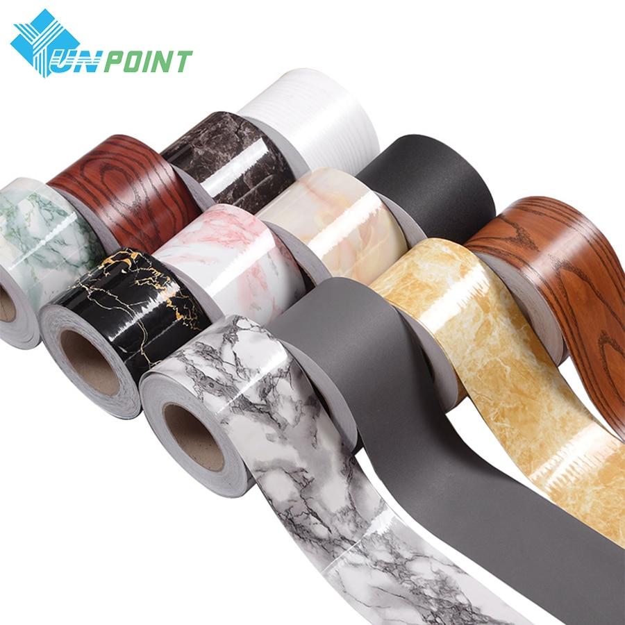 Talie de bricolaj Autocolante decorative DIY Bucătărie PVC autoadezive Tapet Borduri Marmură Hârtie de baie Autocolant de perete impermeabil