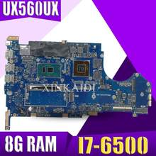 UX560UX mainboard For ASUS UX560 UX560U UX560UQK UX560UQ UX560UX laptop motherboard Tested Ok I7-6500CPU 8G RAM(China)