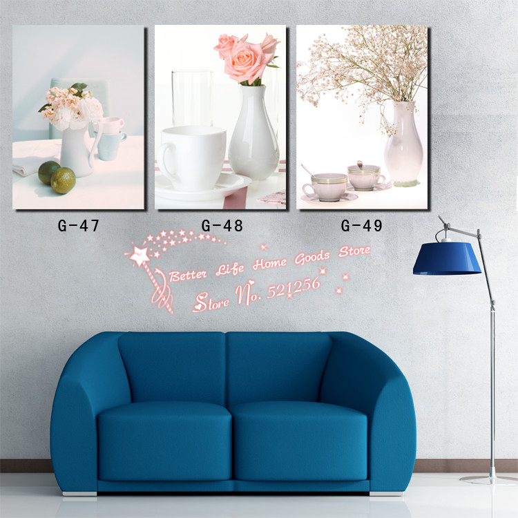 Modern Wall Art <font><b>Home</b></font> Decoration Printed Oil Painting Pictures No Frame 3 Panel Plain but <font><b>Elegant</b></font> Table <font><b>Decor</b></font> Canvas Prints