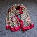 L-asyseason 2017 Moda bandana Lenços Mulheres De Luxo Da Marca Mulheres Lenço de Seda Xale hijab envoltório de Alta Qualidade de Impressão 180*90 CENTÍMETROS