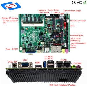 Image 5 - Intel processore J1900 Dual Lan Industriale Integrato MINI ITX Scheda Madre Con 4 Porte Seriali di Sostegno 3G WIFI Mainboard