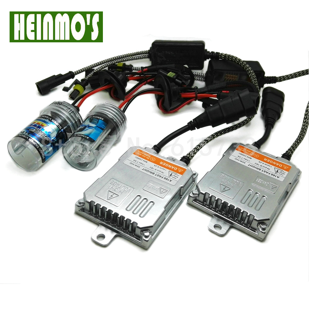 Car Xenon Light H4 55W High /Low Beam 6000K Pure White With Ballast For HID Replacement Parts H7 H8 H1 Headlight Conversion Kit