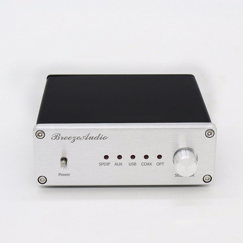 gao-U8 audio decoder XMOS AK4490&AK4118 DAC Support coaxial optical USB input RCA output 192K /24BIT