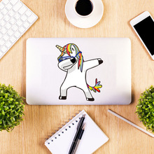 Lovely Cartoon Unicorn Laptop Color Sticker Waterproof Removable Wall Art Decals Wallpaper For  Toilet Bathroom Home Decor