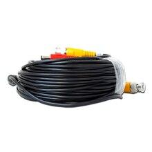 50 м cctv кабель bnc + dc зажигания для cctv камеры и dvr черный цвет коаксиального кабеля для cctv системы Freeshipping