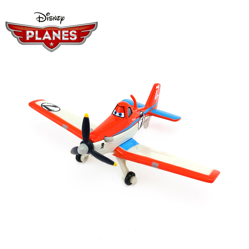 Original Disney Pixar Planes 2 No.7 Dusty Strut Jetstream 1:55 Metal Alloy Diecast Model Plane Toy For Boys Christmas Gift
