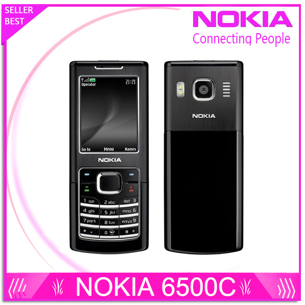 Refurbished Original Nokia 6500 Classic 6500C Unlocked Mobile Phone 3G Quad Band Support Russian Keyboard
