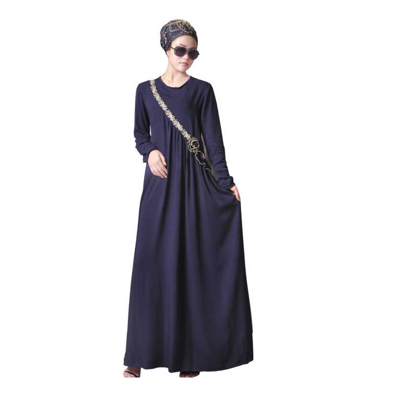 b3831bb5d616c Big Discount Fashion Bourette Embroidery Muslim Dress Abaya in Dubai Islamic  Clothing For Women Jilbab Djellaba Robe Musulmane Jubah EID For Sale at ...