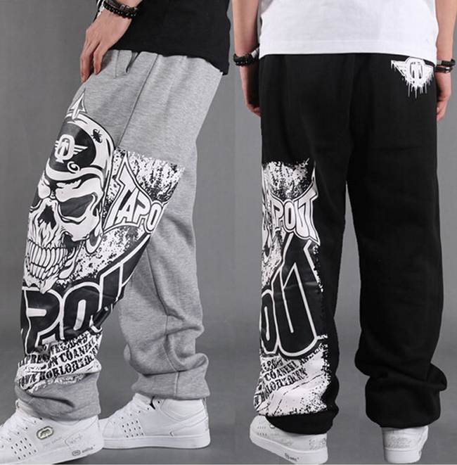 Hip Hop Mens Joggers Parkour Rap Street Dance Loose Pants Sweatpants Mens Trousers