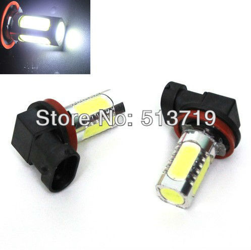 Dongzhen New 2x 7.5W LED White H8 H9 H11 Car SMD LED Head Driving Fog Light Auto Bulb Lamp 2x h3 9 led smd car auto xenon white fog driving head light lamp bulb 6500k car styling lights lamp automoblies