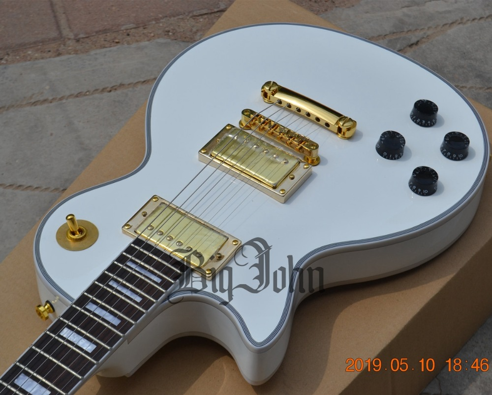 New Left Handed BJ Electric Guitar White Mahogany Body Rosewood Fingerboard BJ 181